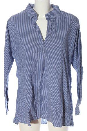 Karen by Simonsen Long Sleeve Shirt blue-white striped pattern casual look