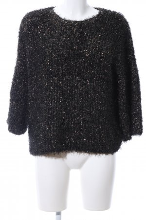 Karen by Simonsen Crewneck Sweater black-gold-colored flecked casual look