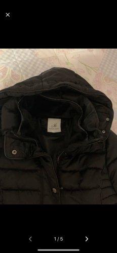 Karen & Karen Hooded Coat black