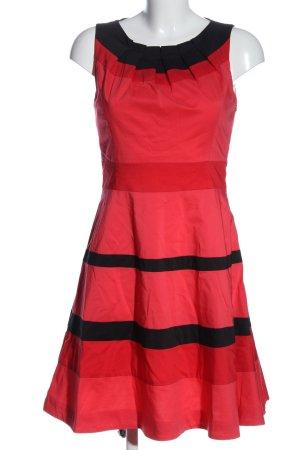 KAREN MILLEN A-Linien Kleid rot-schwarz Streifenmuster Casual-Look