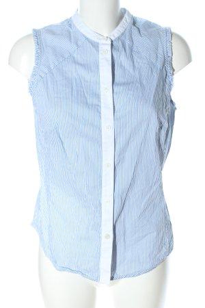 KAREN MILLEN ärmellose Bluse blau-weiß Streifenmuster Business-Look