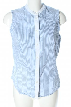 KAREN MILLEN Blusa senza maniche blu-bianco motivo a righe stile professionale