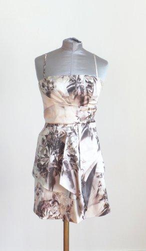 Karen Millen Bustier Kleid mit Trägern Dicke Seide (Satin) XS S