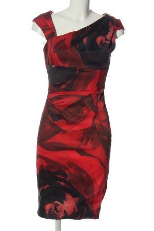 KAREN MILLEN Abito da cocktail rosso-nero stampa integrale elegante