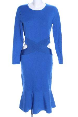 KAREN MILLEN Robe découpée bleu élégant
