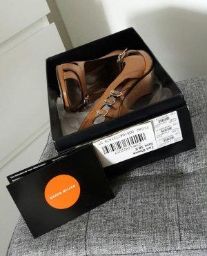 Karen Millen Damen Peeptoes Sandaletten Plateau Pumps Schuhe 38.5