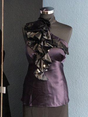 KAREN MILLEN Top senza maniche nero-viola scuro
