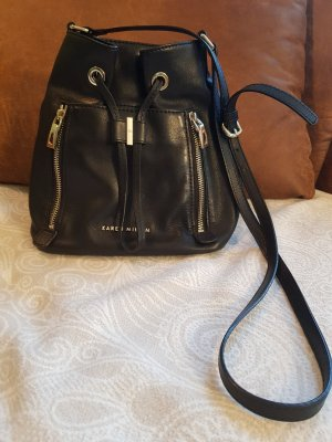 KAREN MILLEN Pouch Bag black leather