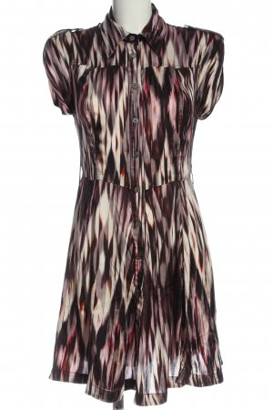 KAREN MILLEN Hemdblusenkleid pink-wollweiß abstraktes Muster Business-Look