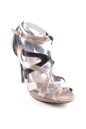 KAREN MILLEN High Heel Sandaletten schwarz-beige