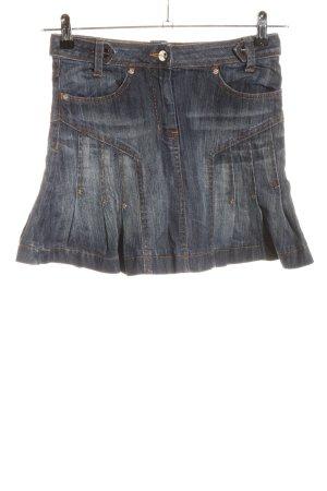 KAREN MILLEN Jupe en jeans bleu style décontracté