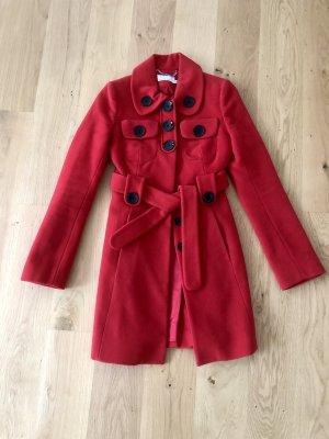 KAREN MILLEN Abrigo de lana rojo