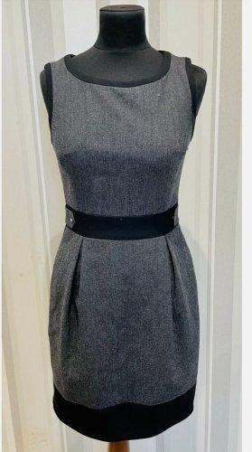 Karen Millen Kleid 36 34 XS S wie neu Wolle business grau mini Etuikleid