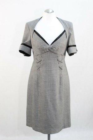 KAREN MILLEN Vestido de noche gris claro-marrón grisáceo tejido mezclado