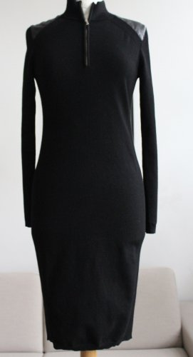 KAREN MILLEN Woolen Dress black mixture fibre