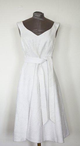 Karen Millen Kleid Jaquard Party Kleid weiß neu UK 8 DE 36 S