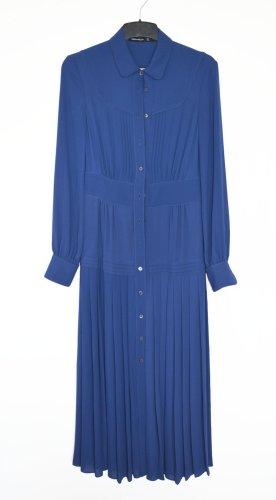 Karen Millen Kleid Plissee Navy neu Midikleid Jersey UK 8 DE 36 S