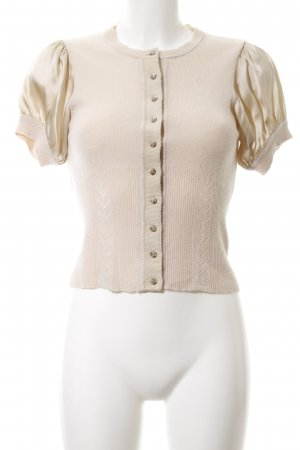 KAREN MILLEN Short Sleeve Knitted Jacket cream vintage look