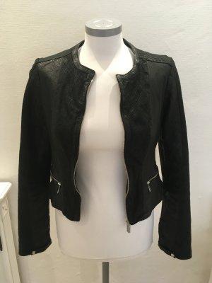 Karen Millen Limited Edition Lederjacke Jacke Leder schwarz 40 L 38 M 36 S