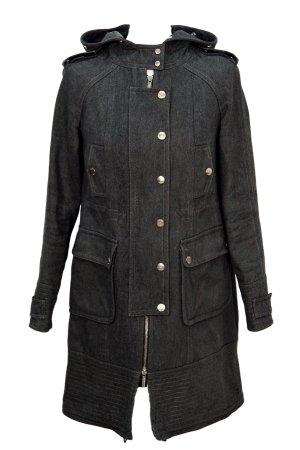 KAREN MILLEN Abrigo gris oscuro tejido mezclado