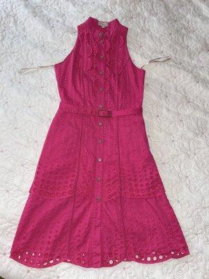 Karen Millen Midi Kleid mit Lochmuster Gr. XS/S