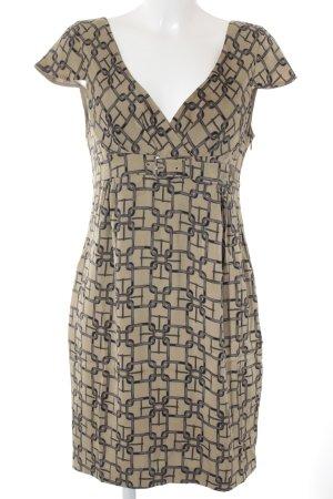 KAREN MILLEN Mini vestido beige-gris oscuro estampado con diseño abstracto