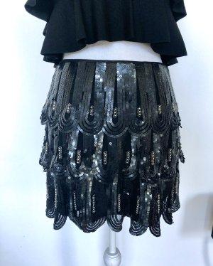 KAREN MILLEN Warstwowa spódnica czarny-ciemnoniebieski