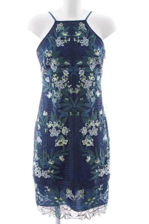 KAREN MILLEN Vestido de cuello Halter estampado floral elegante