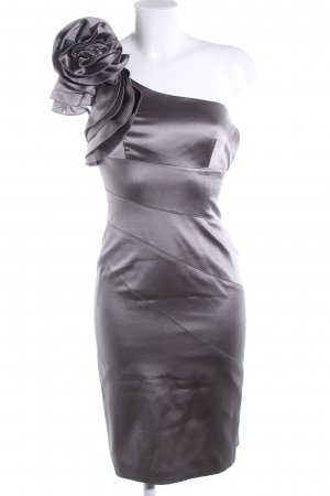 KAREN MILLEN One Shoulder Dress silver-colored elegant
