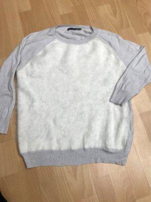 KAREN MILLEN Jersey de cuello redondo gris claro