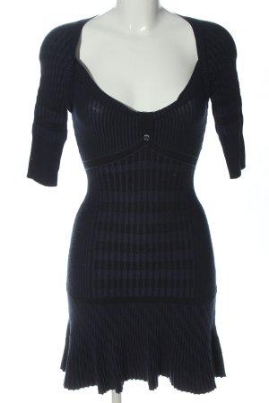 KAREN MILLEN Abito maglione blu-nero motivo grafico stile casual