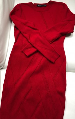 KAREN MILLEN RIppenstrickkleid in rot Größe L- NEU