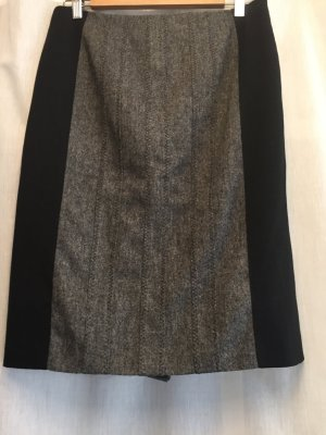 KAREN MILLEN Falda de tubo negro-gris tejido mezclado