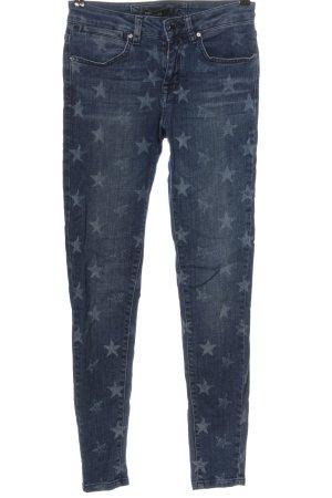 KAREN MILLEN Jeans a sigaretta blu stampa integrale stile casual