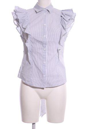 KAREN MILLEN Rüschen-Bluse weiß-schwarz Streifenmuster Casual-Look
