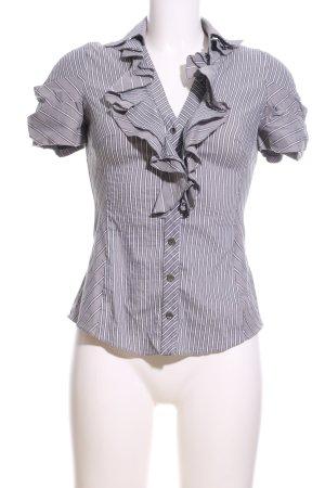 KAREN MILLEN Ruche blouse gestreept patroon zakelijke stijl