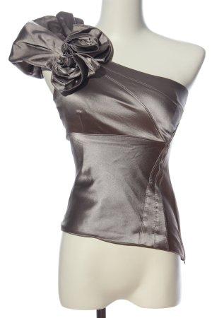 KAREN MILLEN Blusa in seta argento elegante
