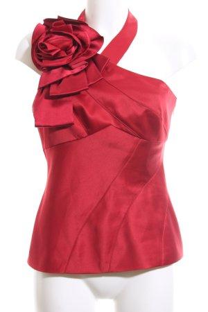 KAREN MILLEN Blusa de seda rojo elegante