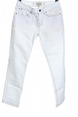 KAREN MILLEN Dopasowane jeansy biały W stylu casual