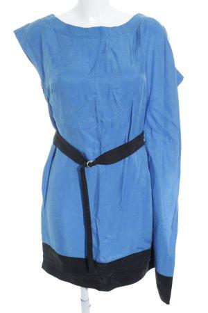 KAREN MILLEN Strandkleid blau-schwarz Colourblocking Beach-Look