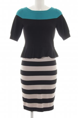 KAREN MILLEN Strickkleid Streifenmuster Business-Look