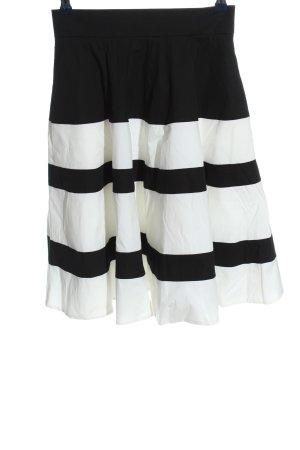 KAREN MILLEN Falda circular negro-blanco estampado a rayas look casual