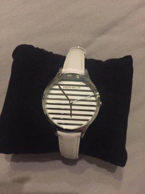 KAREN MILLEN Reloj con pulsera de cuero blanco-color plata