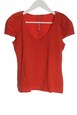 KAREN MILLEN Maglia con scollo a V rosso stile casual