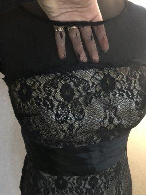 Karen Millen Zara cocktailkleid spitze nude 36