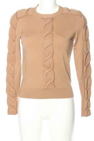 KAREN MILLEN Warkoczowy sweter nude Warkoczowy wzór W stylu casual