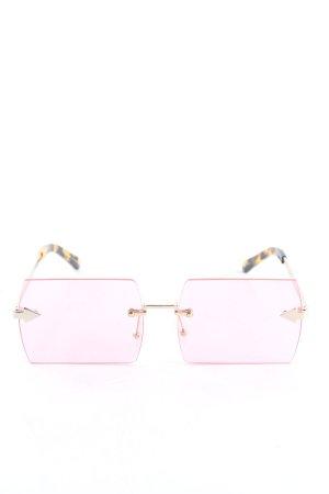 Karen walker Lunettes de soleil angulaires rose style décontracté