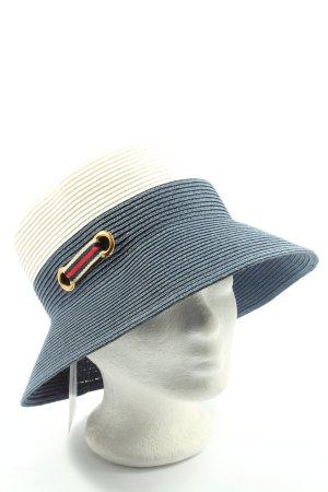 Karfil Cappello tradizionale blu-bianco punto treccia stile casual