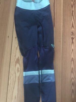 KARI TRAA tights legging schöne Blautöne