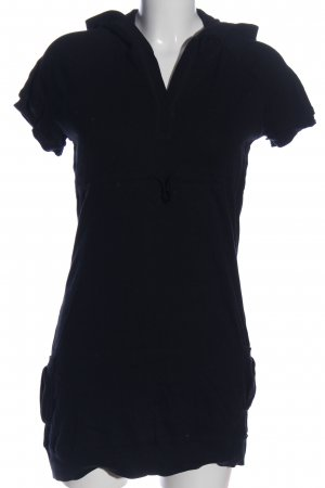 Kariban Camicia con cappuccio blu puntinato stile casual